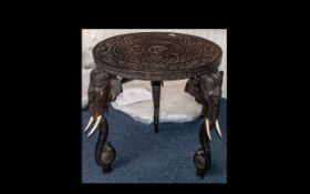 An Antique Indian Colonial Teak Side Table,