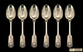 Set of Six William IV Scottish Table Spoons.