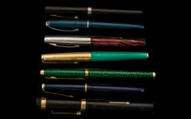 Collection of Fountain Pens, To Include Parker 14ct Nib, Platignum, Sheaffer,