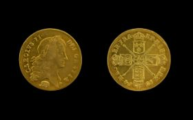 Charles II Two- Guineas 1664 First Bust, Elephant Below (S.