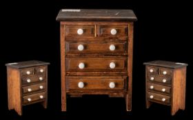 Antique Mahogany Miniature Chest of Drawers,