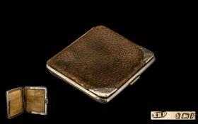 Gentleman's Leather & Silver Wallet Gentleman's wallet dated for Birmingham 1906,