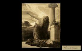 'Clytie' by Frederick Lord Leighton of Stratton PRA (1830-1896) Mezzotint by H Scott Bridgewater