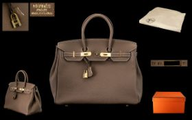 Hermes - Paris Birkin Soft Leather Bag with Lock and Key Clasp,