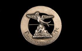 Silver Badge (SAUVITER SED FORTITER), hallmarked for Birmingham 1947, Maker's mark AF; 1.