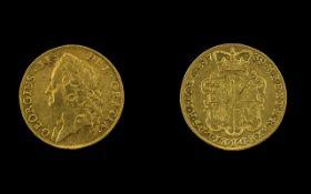 George II (1727-60) Gold Two Guineas 1739 Intermediate laureate head left,