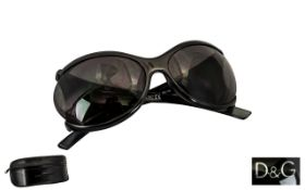 Dolce & Gabbana Vintage Pair of Sunglasses. No: D & G 2187-B5-63015-140. Black colourway.