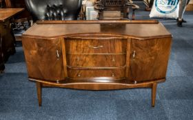 1950s Walnut Sideboard by Stonehill Furniture Company, on square tapering legs. Size 5' x 2'.