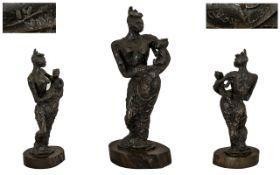 Leon Underwood (British 1890-1975) Bronze of the African Madonna, (Modern British Avant Garde