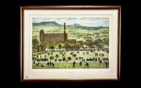 Lloyd George Higgins 1912 - 1980 Ltd Edition Signed Colour Print - Titled ' Centre Todmorden ' Mount