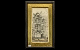 William Curtis Green (1875-1960) Signed Pen and Ink Drawing by the famed architect of the