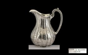 Victorian Period Superb Quality and Heavy Sterling Silver Cream Jug.