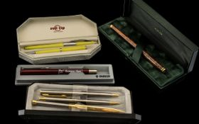 Collection of Boxed Fountain Pens. To Include Roll Tip, Cross, Parker etc. Please See Photo.
