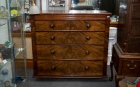 Antique Mahogany Chest on Stand on a lowboy type base with cabriole legs terminating on ball and
