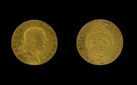 "George III (1760-1820) Gold ""Military"" Guinea, 1813 Sixth laureate head right, legend surrounding,"