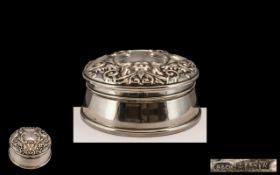 Silver Trinket/Jewellery Box fully hallm