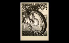 Motor Bike Photograph, titled 'Front Whe
