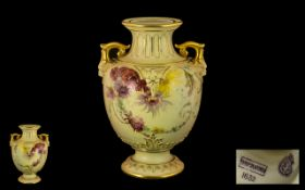 Royal Worcester Hand Painted Blush Ivory