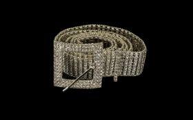 White Austrian Crystal Belt, a 1.25 inch