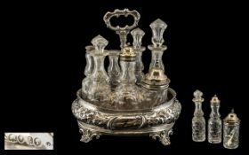 Victorian Period Sterling Silver 7 Piece