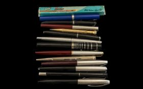 Collection of Vintage Fountain Pens and