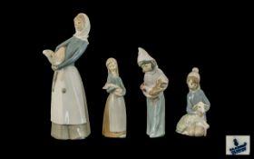 Lladro Hand Painted Porcelain Figures (