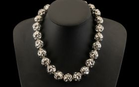 Silver Statement Necklace / Choker Quali