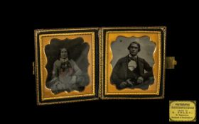 Victorian Double Photograph on Glass Pla