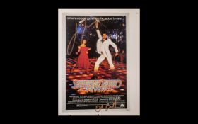 Saturday Night Fever Rare Poster Book Page Proof Signed By John Travolta & John Badham - This item