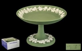 Wedgwood Green Jasper Cake Stand. With original boxes.