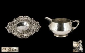 Arts & Crafts Hand Crafted Superb Planished Silver Cream Jug of wonderful proportions,