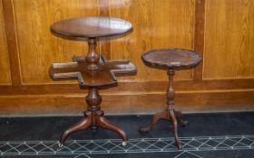 Edwardian Round Mahogany Swivel Occasional Centre Table,
