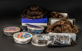 Collection of Boxed Wigs and Hair Accessories, comprising five various styles and lengths,