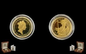 Royal Mint Britannia Gold Proof Struck Limited & Numbered Edition £10 Pound Coin. Date 1994.