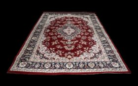 Modern Belgian Machine Made Carpet in the manner of Meshad;