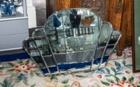 """Art Dec Fan Shaped Mirror in typical Deco style, measures 28"""" x 19"""". Please see photograph."""