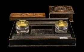 Writing Set, Cricket Box & Indian Wood Box.
