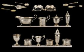 A Collection of Early 20thC Sterling Silver Items. All fully hallmarked.