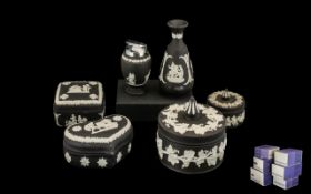 Collection of Wedgwood Black Jasper,