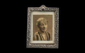Victorian Silver Photo Frame of highly decorative design,