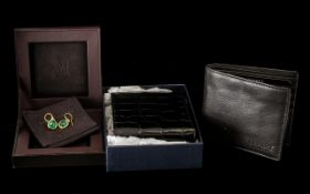 Two New Gents Fashion Wallets Osprey & Aspinal Of London.