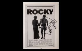 Rocky Rare Poster Book Page Proof Signed By Sylvester Stallone - This item is very special indeed,