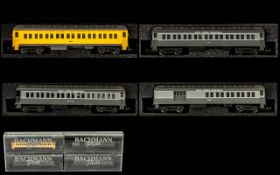 Bachmann Plus Collection of N Scale Miniature Railway Model Coaches 4 in total.