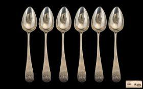 Set of Six Georgian Tea Spoons,