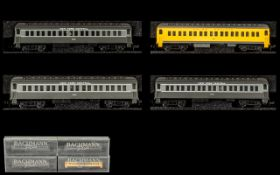 Bachman Plus Collection of N Scale Miniature Railway Coaches 4 in total.