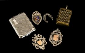 Collection of Antique Sterling Silver Oddments, comprises: 1.