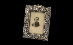 Victorian Silver Photo Frame,