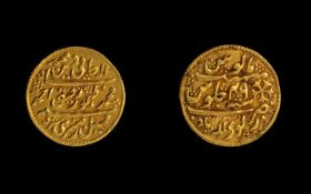 Bengal Presidency Gold Mohur Coin Kolkata (Calcutta) About Unc. Weight 10.5 grams