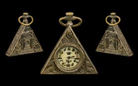 "Masonic Watch of unusual shape and form. 2.5 "" x 2.5"". Working at time of cataloging."