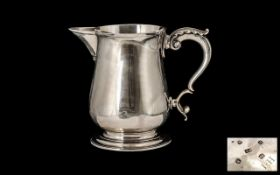 George III - Late 18th Century Silver Tankard of Excellent Proportions and Swan Neck Handle.